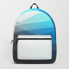 Aqua Gray Ombre Backpack
