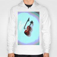 violin Hoodies featuring Violin by Vitta