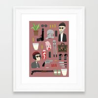 leon Framed Art Prints featuring Leon  by Max the Kid