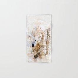 Abstract watercolor polar bear Hand & Bath Towel
