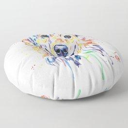 Golden Retriever Floor Pillow