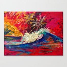 Dream surf Sumatra Canvas Print