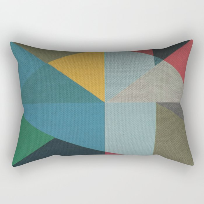 Geometric Thoughts 6 Rectangular Pillow