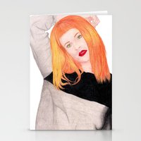 hayley williams Stationery Cards featuring Hayley Williams by Natalie Huber