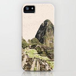 ArtWork Painting Machu Picchu Peru Paint Art Print iPhone Case