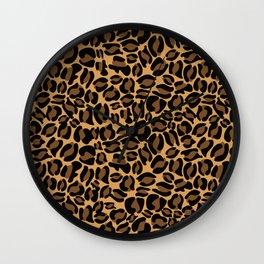 Leopard Print   Cheetah texture pattern Wall Clock