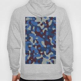 Blue & Burgandy Camo Pattern Hoody