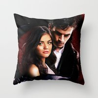 pretty little liars Throw Pillows featuring Pretty Little Liars by Erwan Khatib
