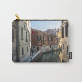 Old man in Venice street at sundown Italy Carry-All Pouch