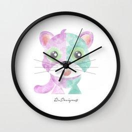 Watercolour Cat Wall Clock