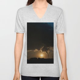 Communicative pollution Unisex V-Neck