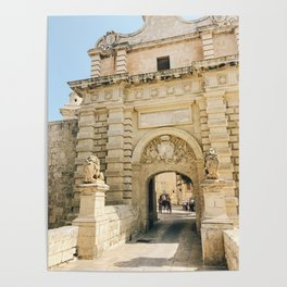 Mdina City Gates Poster