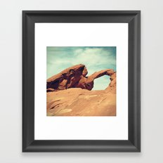 Arch Rock Framed Art Print