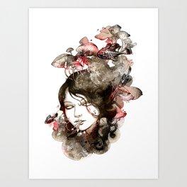 Metamorphosis of a fading memory Art Print
