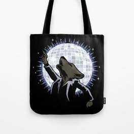 Howling at the Disco Moon Tote Bag