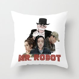 fsociety - Mr. robot Throw Pillow