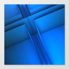 Clean Lines (Blue) Canvas Print