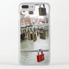 Love padlocks Clear iPhone Case