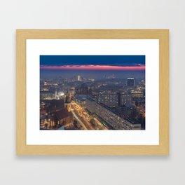 Sunset in Berlin Framed Art Print