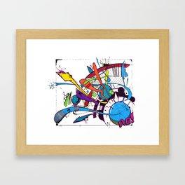 Explosions 2 Framed Art Print