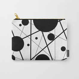 Abstract Lines and Dots Carry-All Pouch
