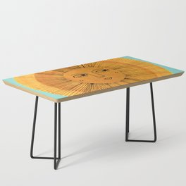 Sun Drawing Gold and Blue Coffee Table