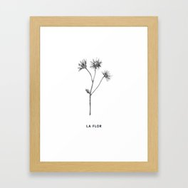 la flor handdrawn illustration print Framed Art Print
