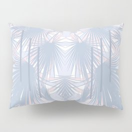 Tropical Art Deco Pattern - Pastel blue and pink Pillow Sham