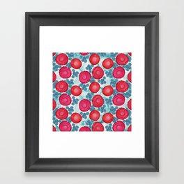 Alcohol Ink Roses Framed Art Print