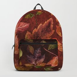 My favorite color is october- Colorful autumnal leaves pattern Backpack