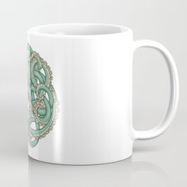 Octopus Emblem Green Coffee Mug