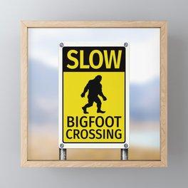 Bigfoot Crossing Sign Framed Mini Art Print
