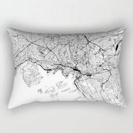 Oslo White Map Rectangular Pillow