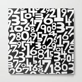 Monochrome numbers Metal Print