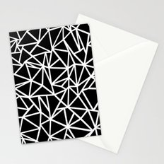 Abstract Outline Thick White on Black Stationery Cards