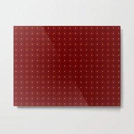 Muster - rote Blumen Metal Print