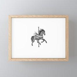 Carousel Horse Framed Mini Art Print