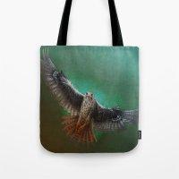 falcon Tote Bags featuring Falcon by ED Art Studio
