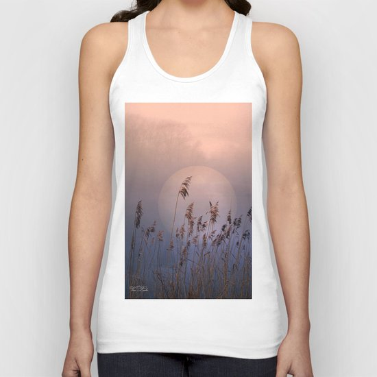 Lake with heart Unisex Tank Top