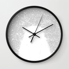 Its A Polar Bear Blinking In A Blizzard Wall Clock