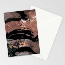 Black desert waters Stationery Cards
