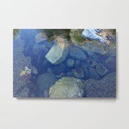 Rocks Under Water I Metal Print