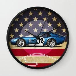 Daytona Racetrack Vintage Wall Clock