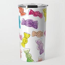 Watercolour Candy  Bonbon Sweets Falling Travel Mug