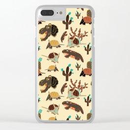 Desert Creatures Clear iPhone Case