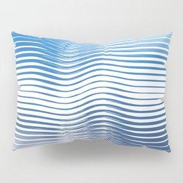 Boho Geometric Ocean minimal blue Pillow Sham