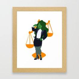 Judge, Jury, and Executioner Framed Art Print
