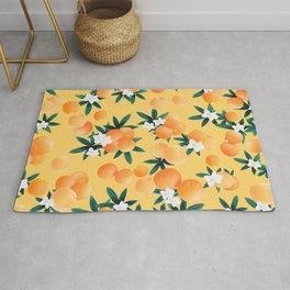 Orange Twist Flower Vibes #3 #tropical #fruit #decor #art #society6 Rug
