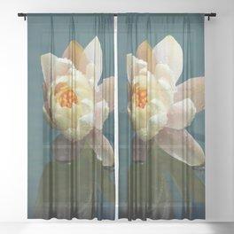 Elegant water lily Sheer Curtain