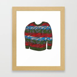 Season 3, Episode 13 (full sweater) Framed Art Print